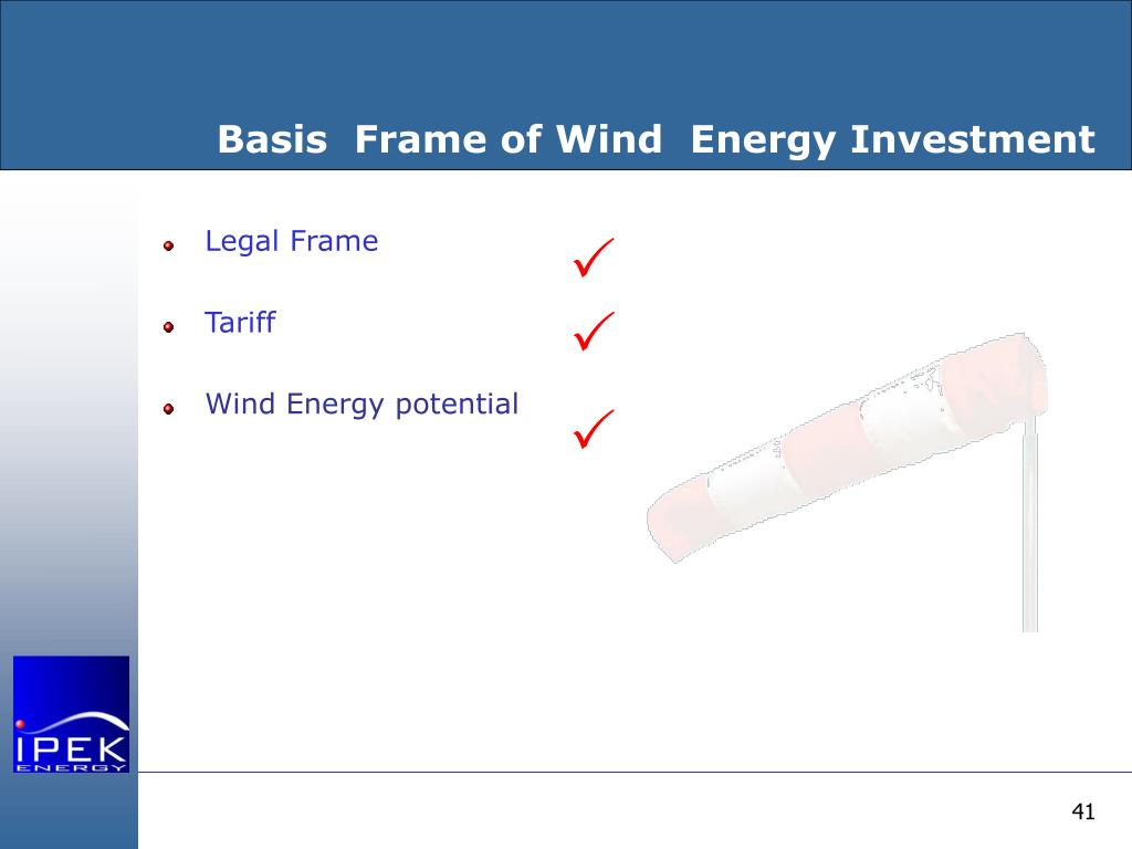 Basis  Frame of Wind  Energy Investment