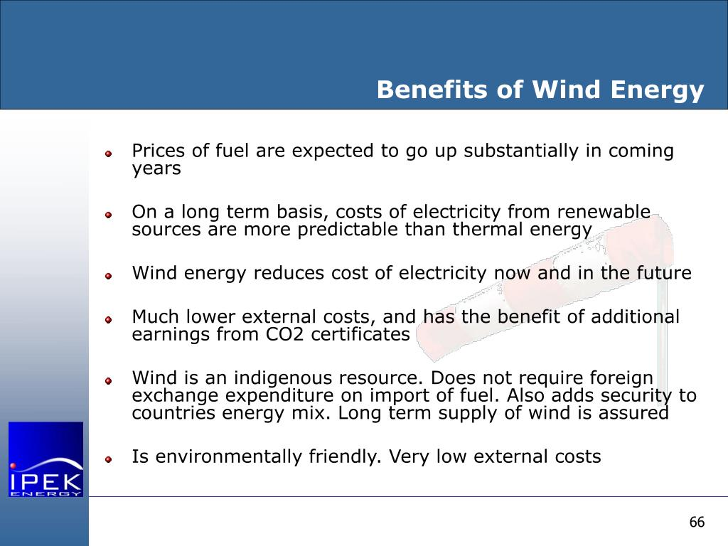 Benefits of Wind Energy