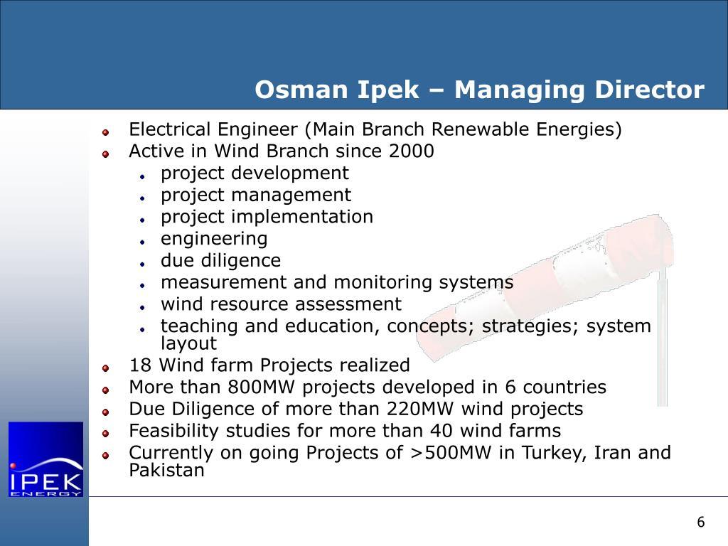 Osman Ipek – Managing Director