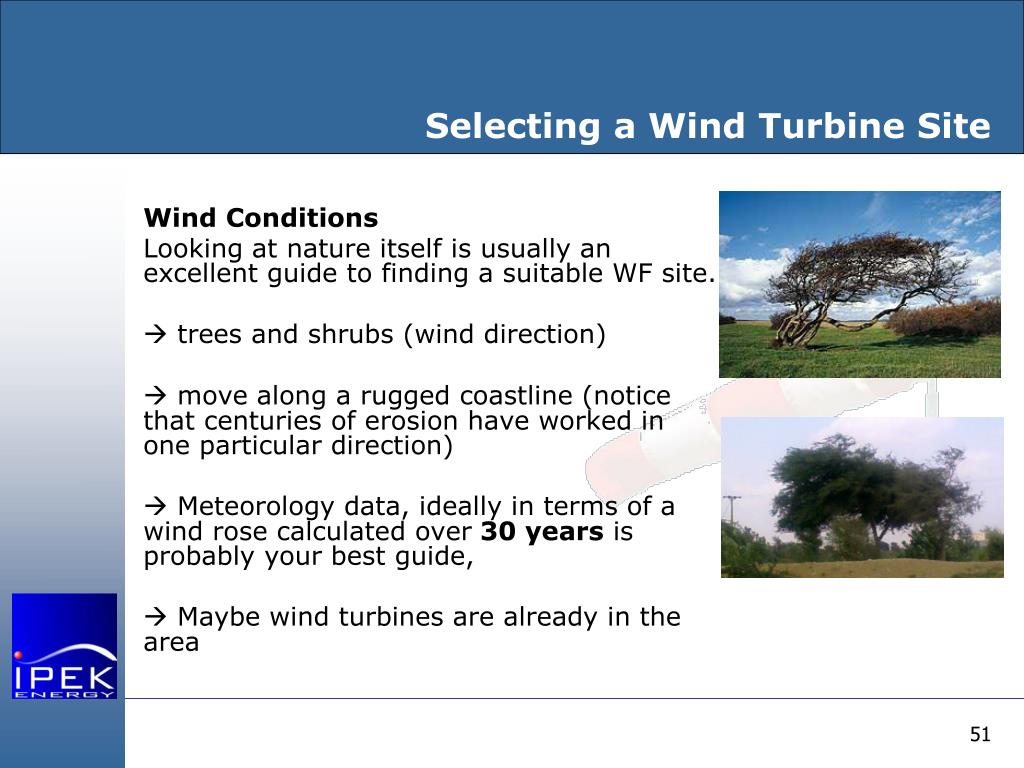 Selecting a Wind Turbine Site