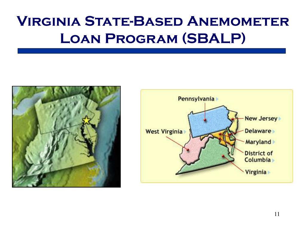 Virginia State-Based Anemometer Loan Program (SBALP)