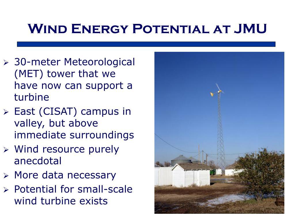 Wind Energy Potential at JMU