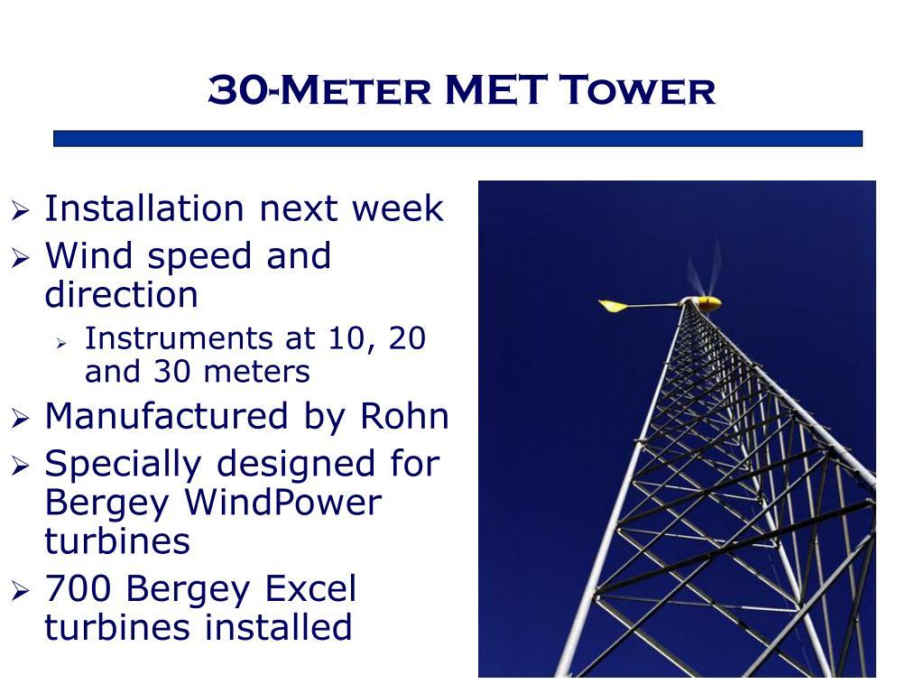 30-Meter MET Tower