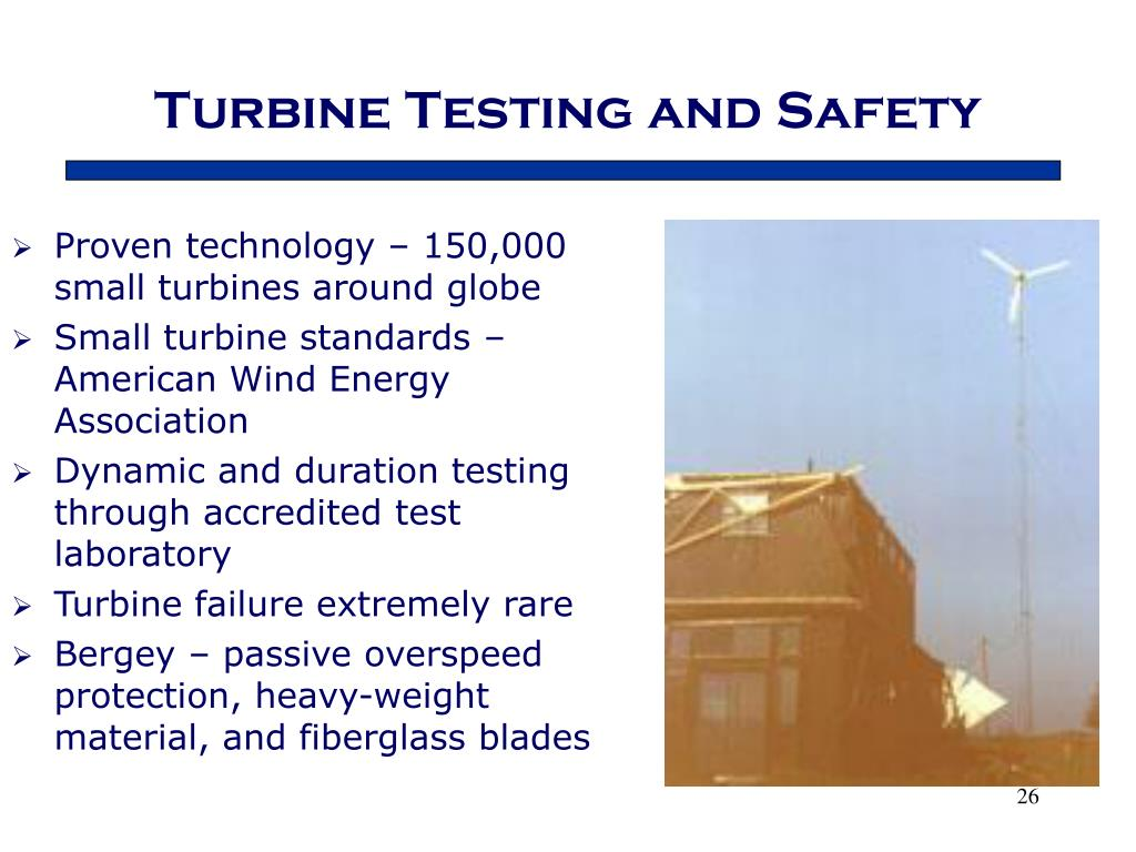 Turbine Testing and Safety