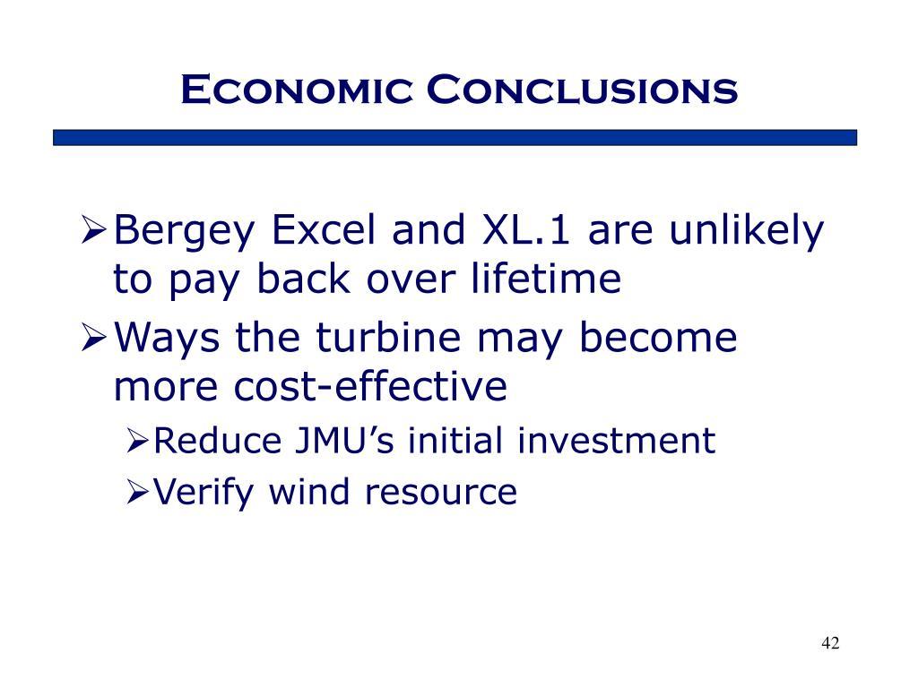 Economic Conclusions