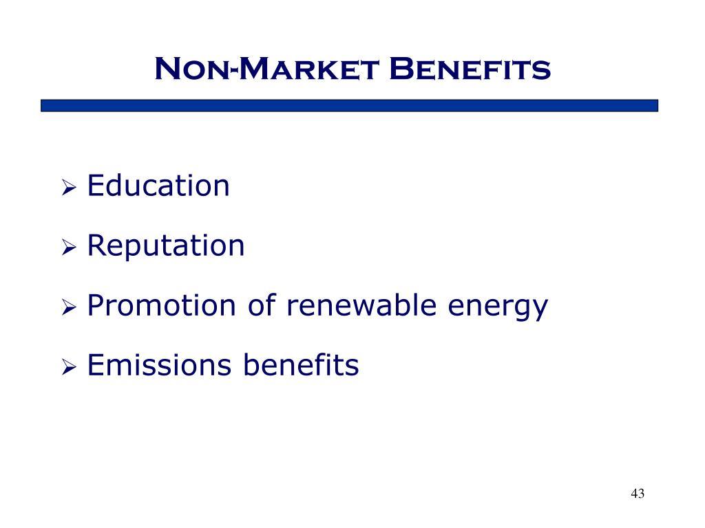 Non-Market Benefits