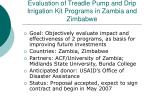 evaluation of treadle pump and drip irrigation kit programs in zambia and zimbabwe