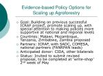 evidence based policy options for scaling up agroforestry