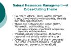 natural resources management a cross cutting theme