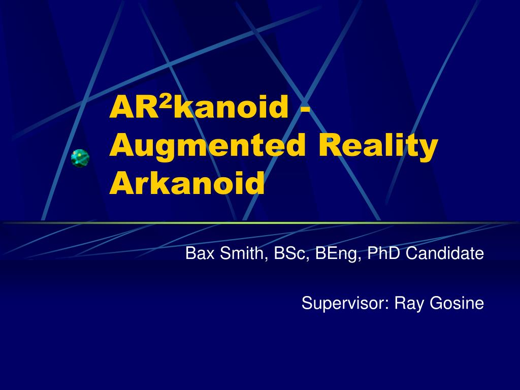 ar 2 kanoid augmented reality arkanoid
