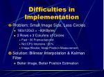 difficulties in implementation15