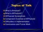 topics of talk