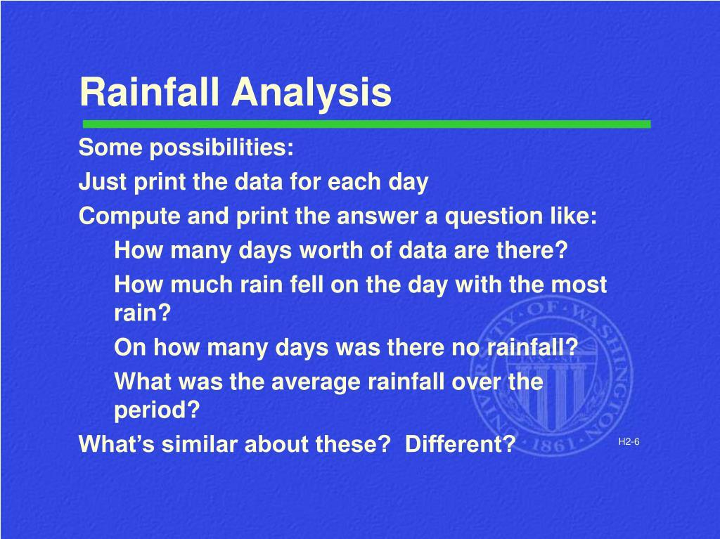 Rainfall Analysis
