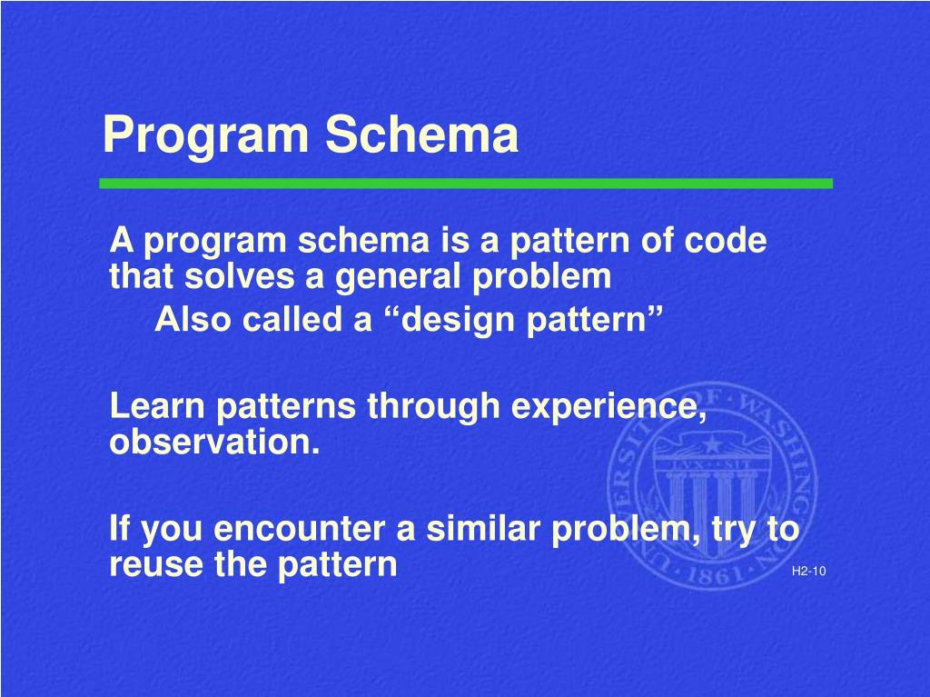 Program Schema
