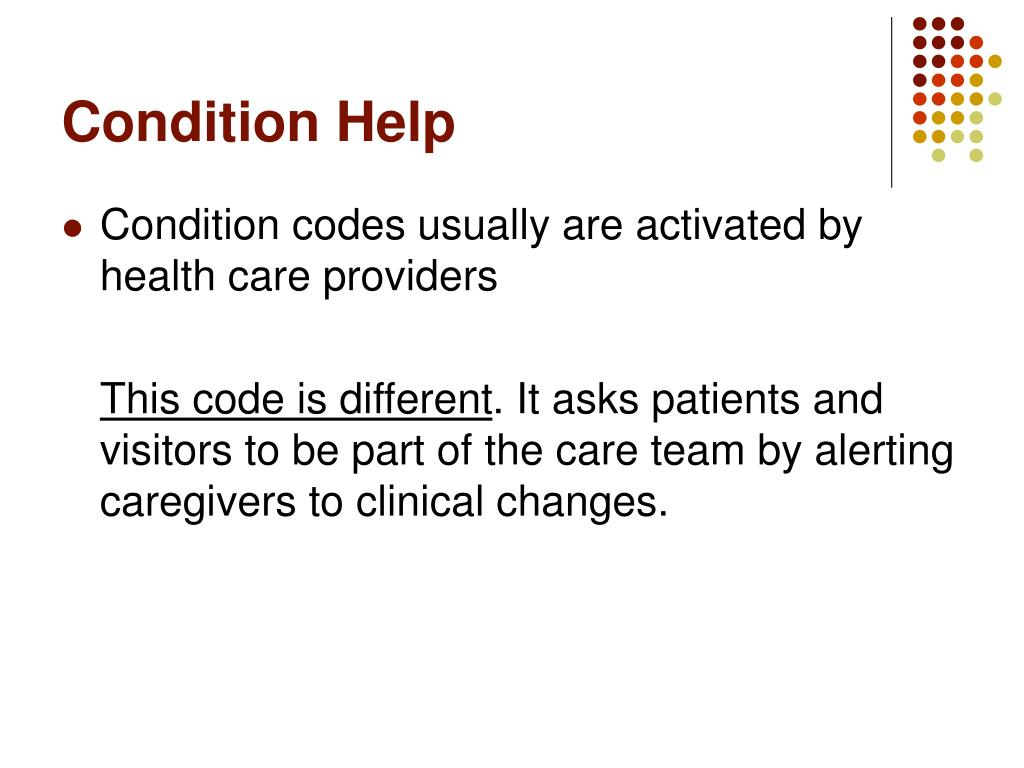 Condition Help