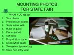 mounting photos for state fair1
