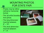 mounting photos for state fair2