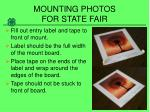 mounting photos for state fair9