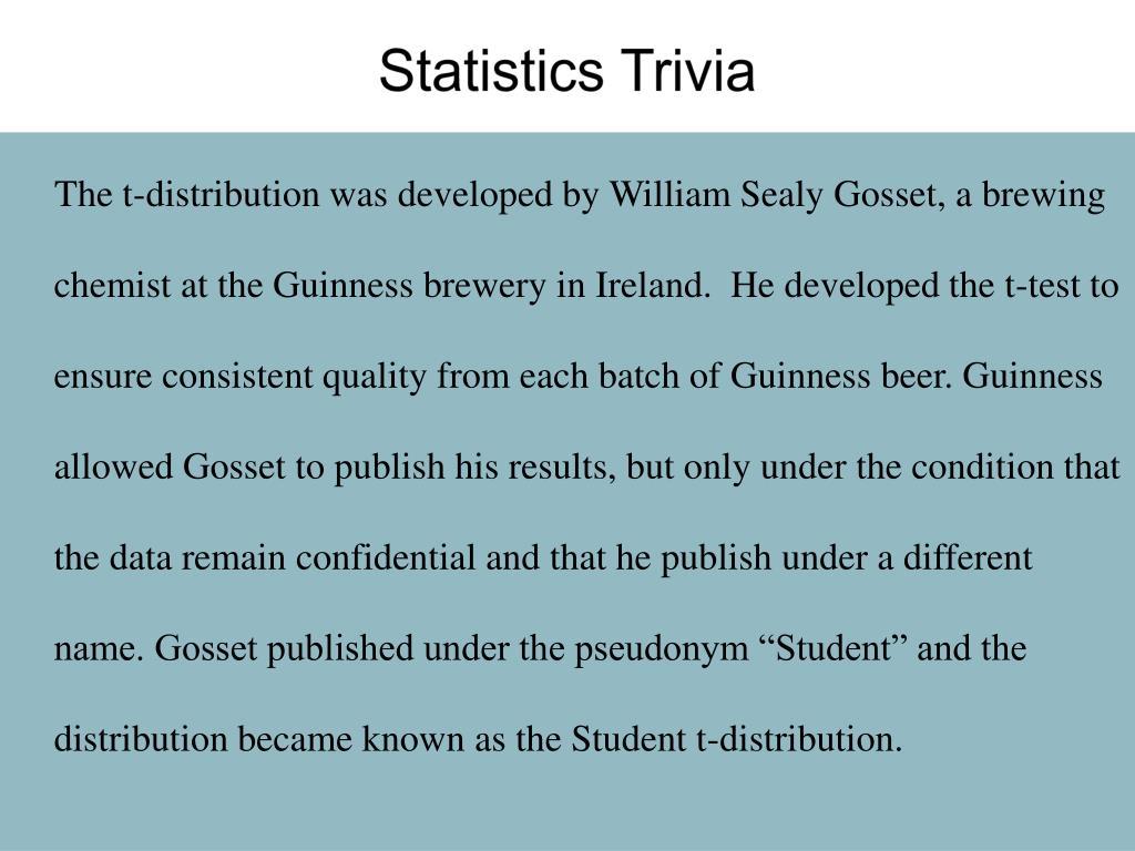 Statistics Trivia