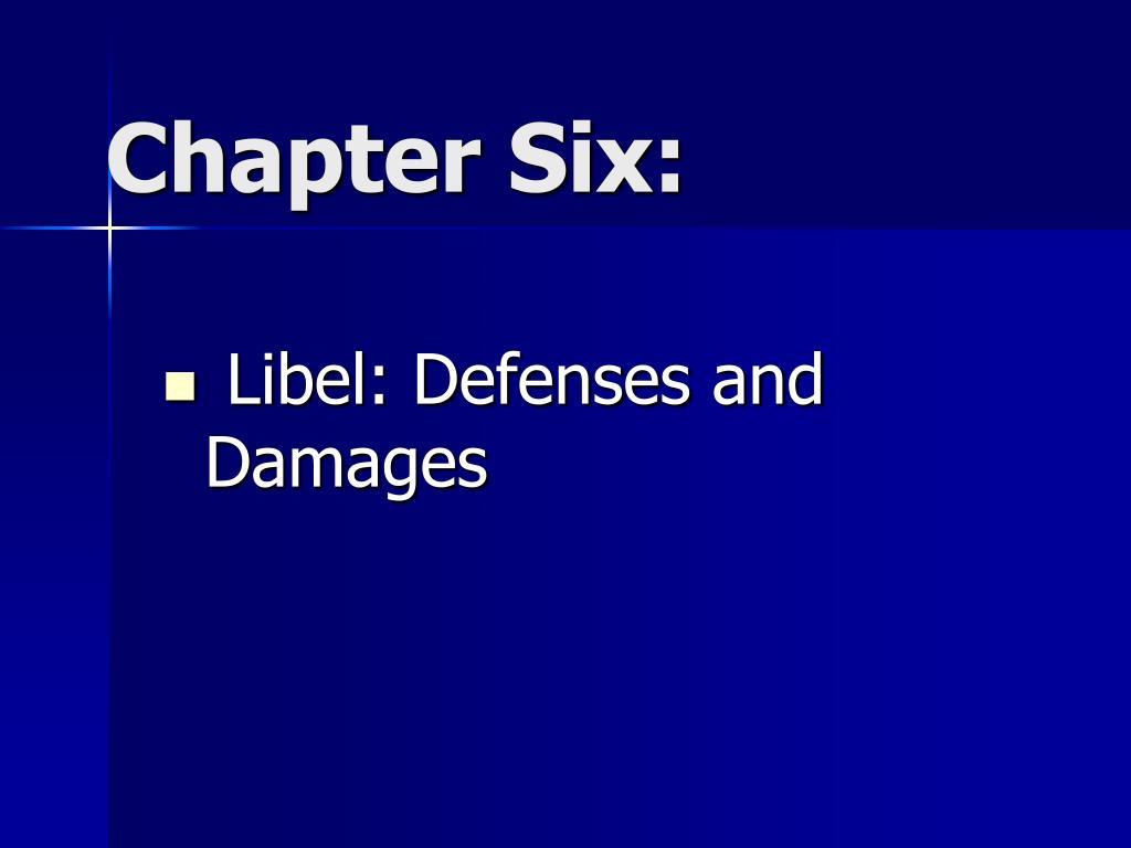 Libel: Defenses and Damages