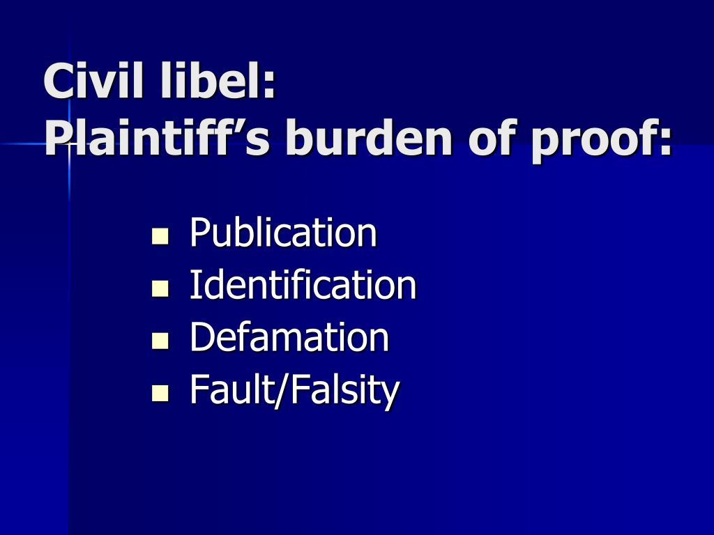 Civil libel: