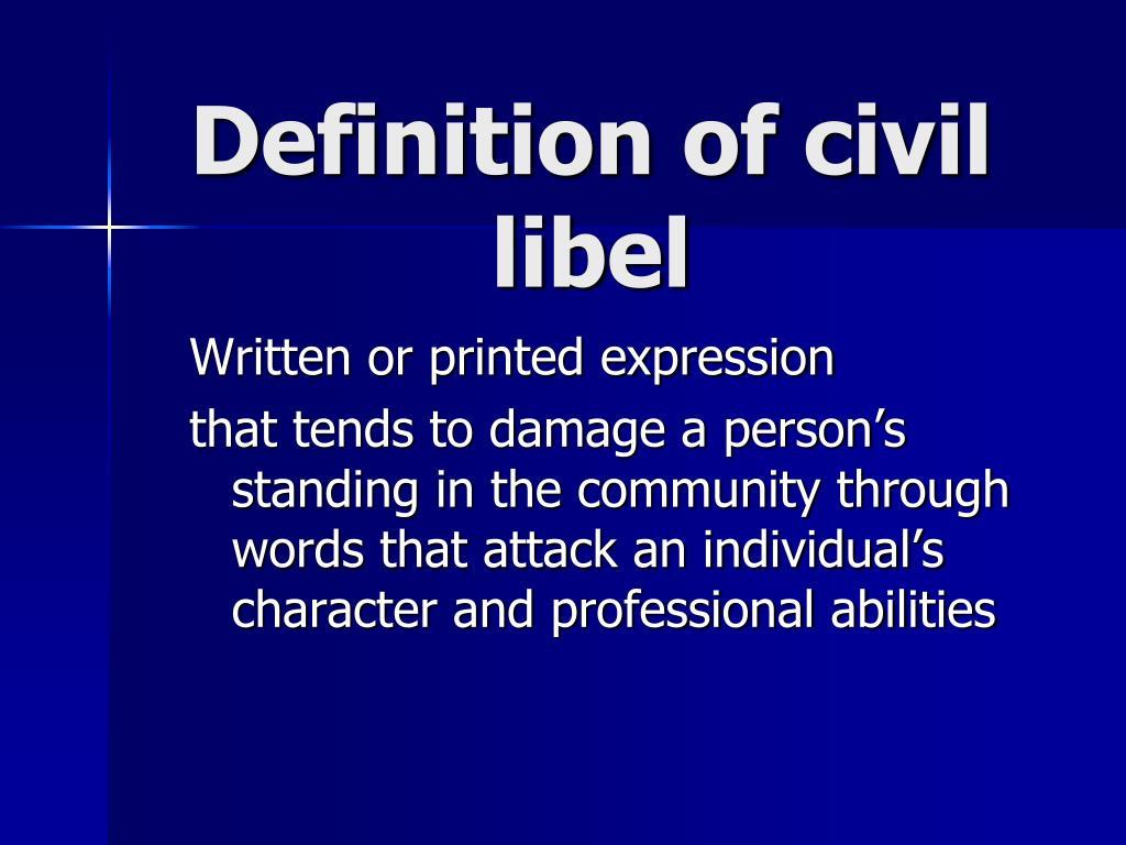 Definition of civil libel