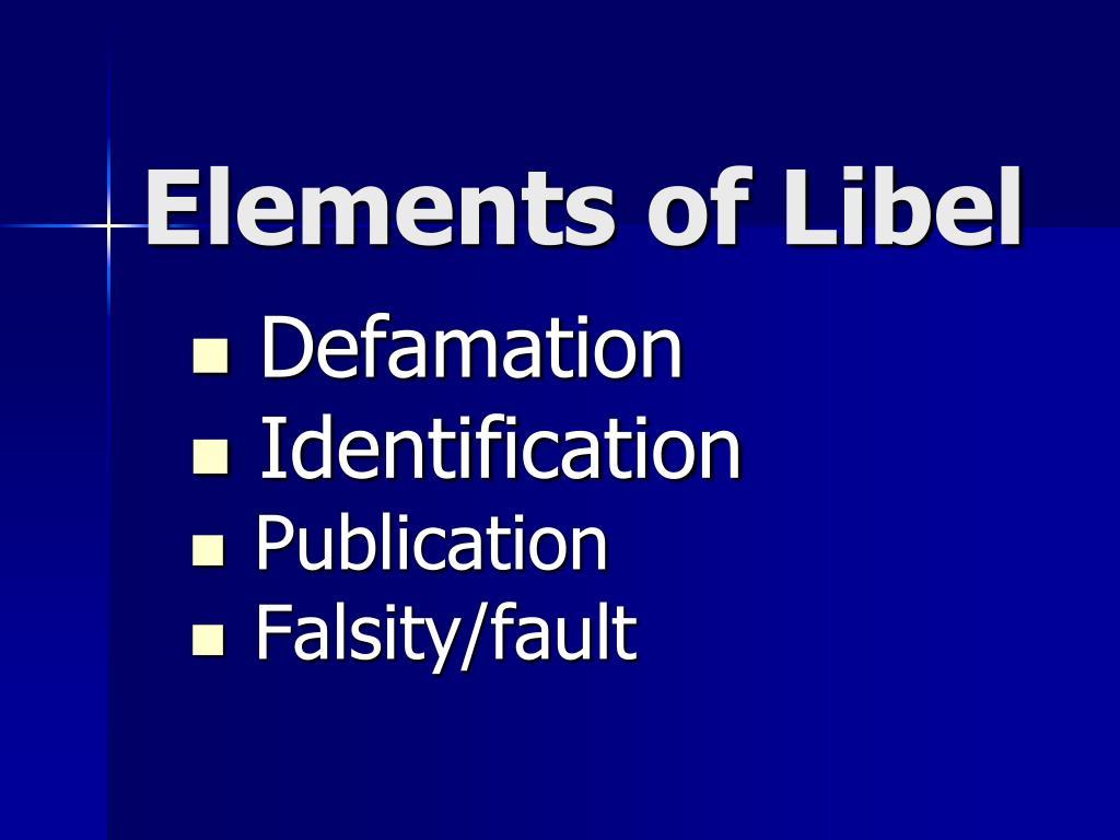 Elements of Libel