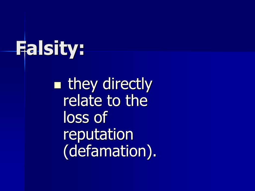 Falsity:
