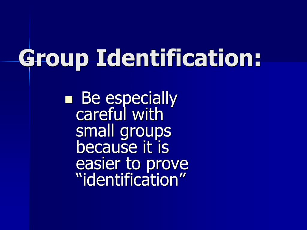 Group Identification: