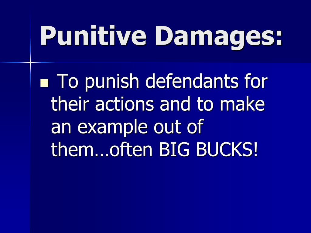 Punitive Damages: