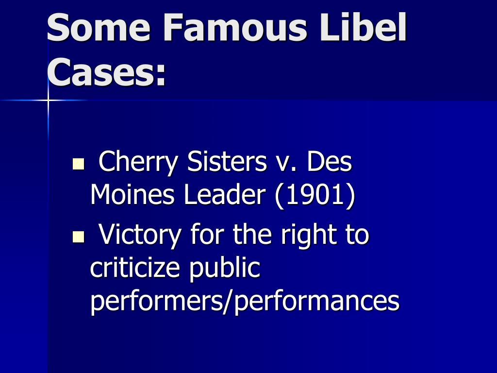 Cherry Sisters v. Des Moines Leader (1901)