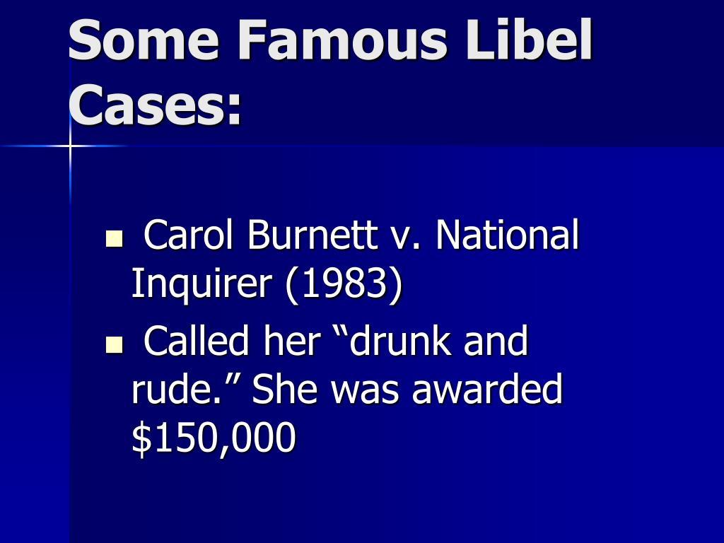Carol Burnett v. National Inquirer (1983)