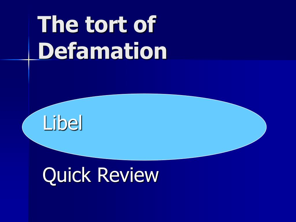 The tort of Defamation