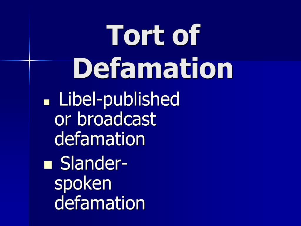 Tort of Defamation