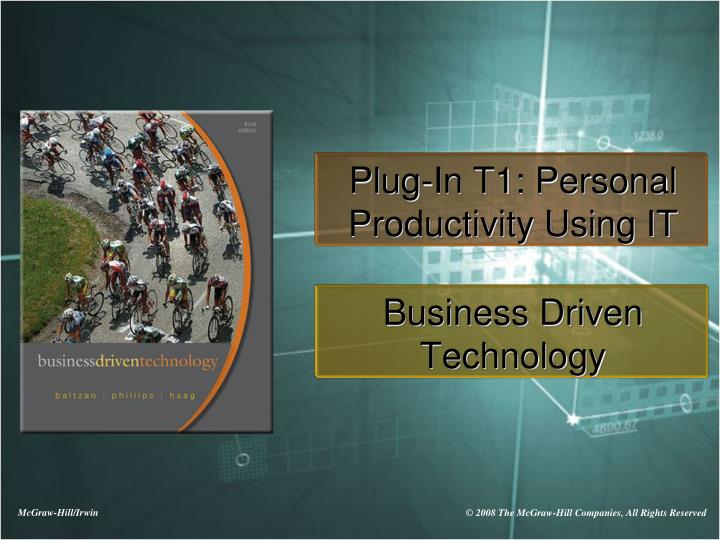 plug in t1 personal productivity using it