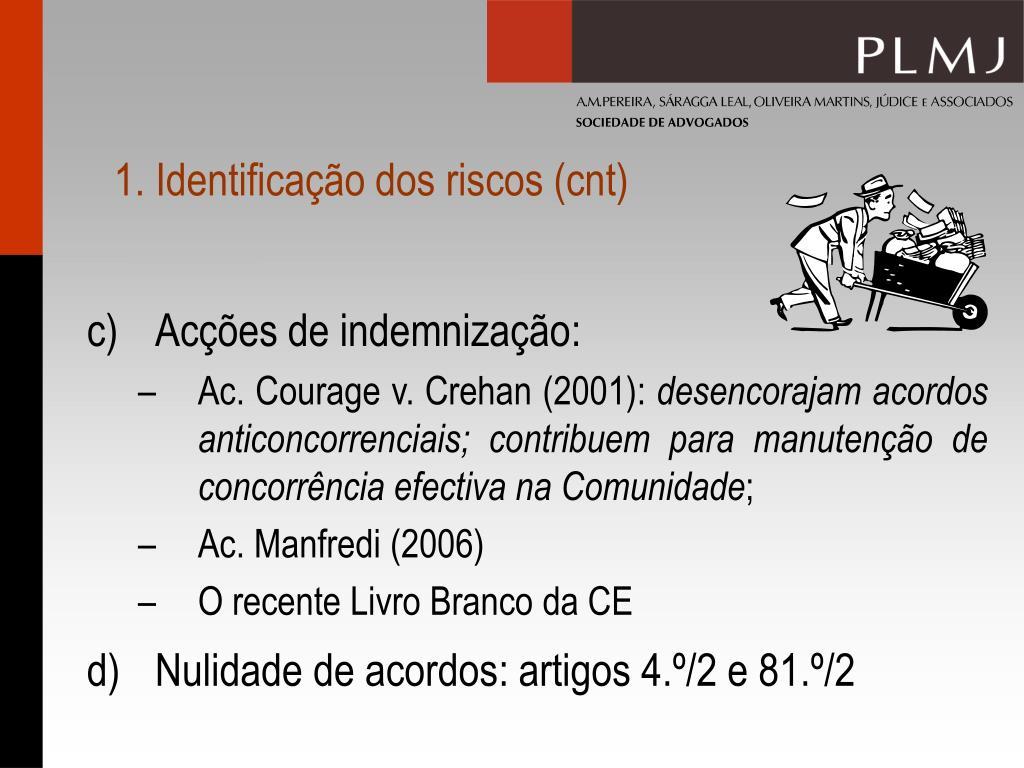 1. Identificação dos riscos (cnt)