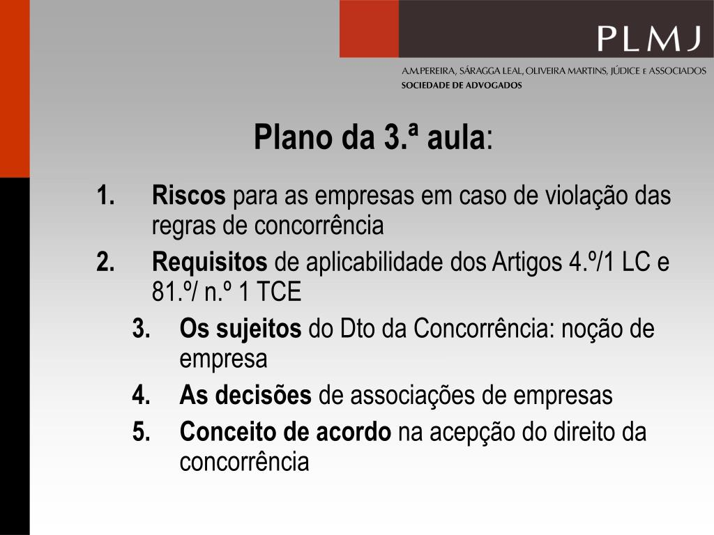 Plano da 3.ª aula