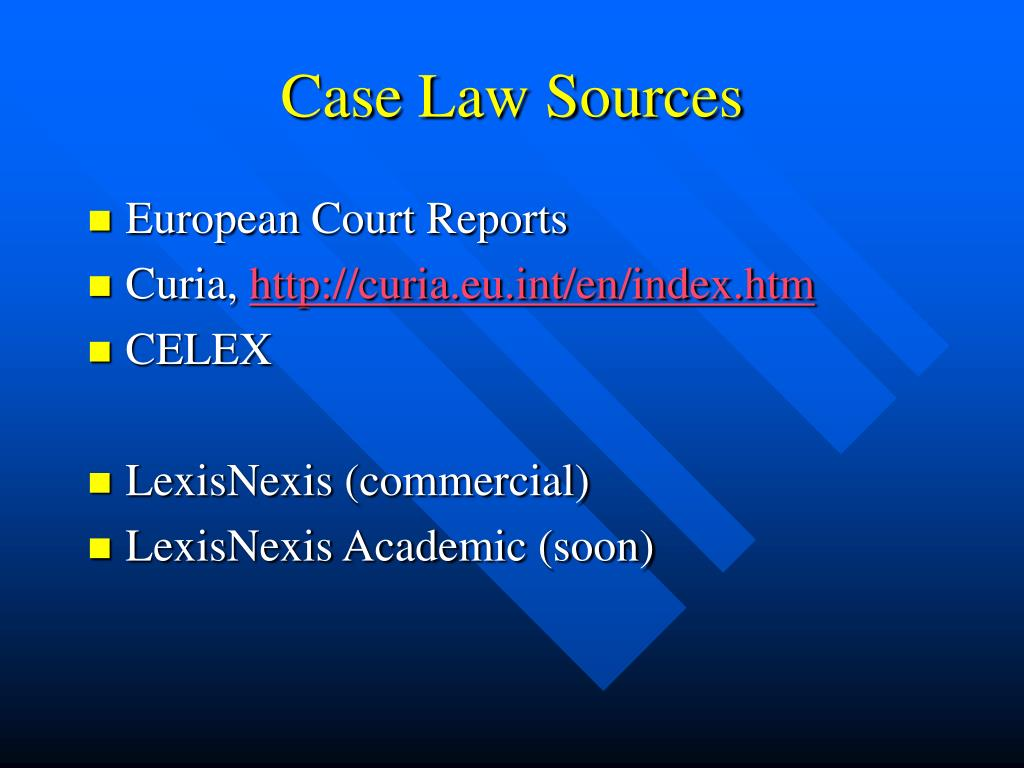 Case Law Sources