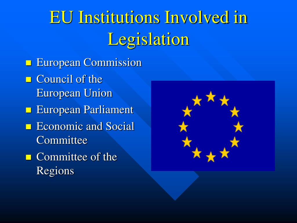 EU Institutions Involved in Legislation