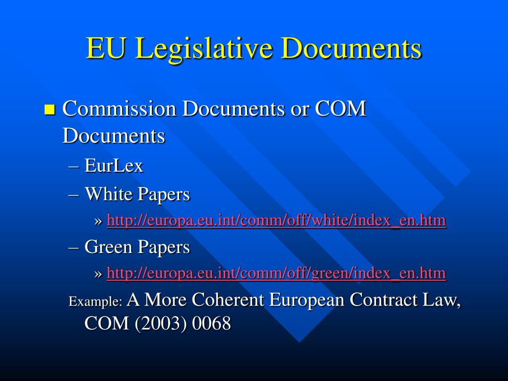 EU Legislative Documents