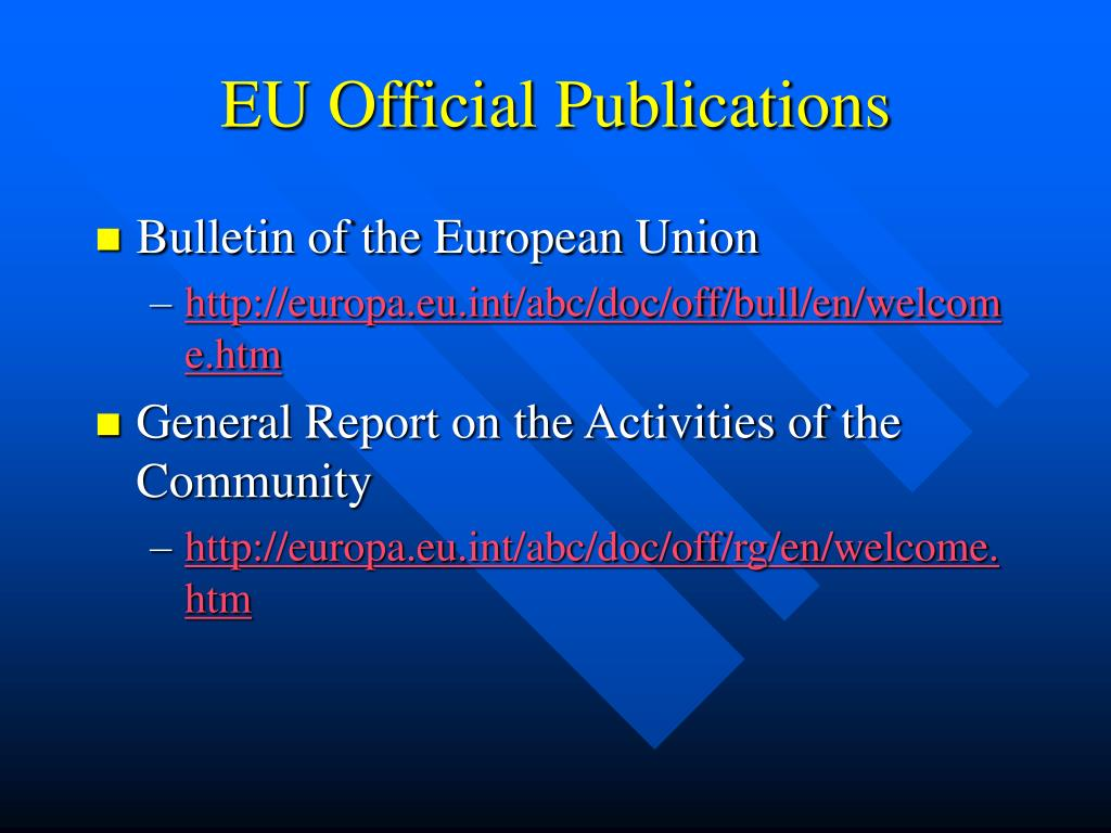 EU Official Publications