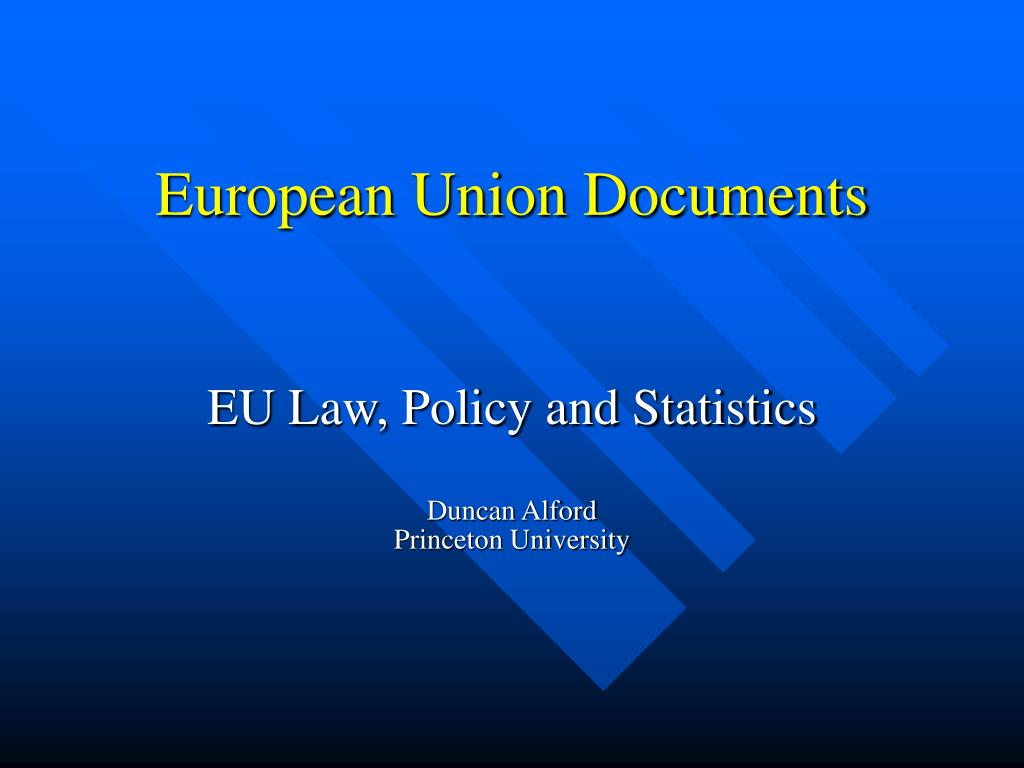 European Union Documents