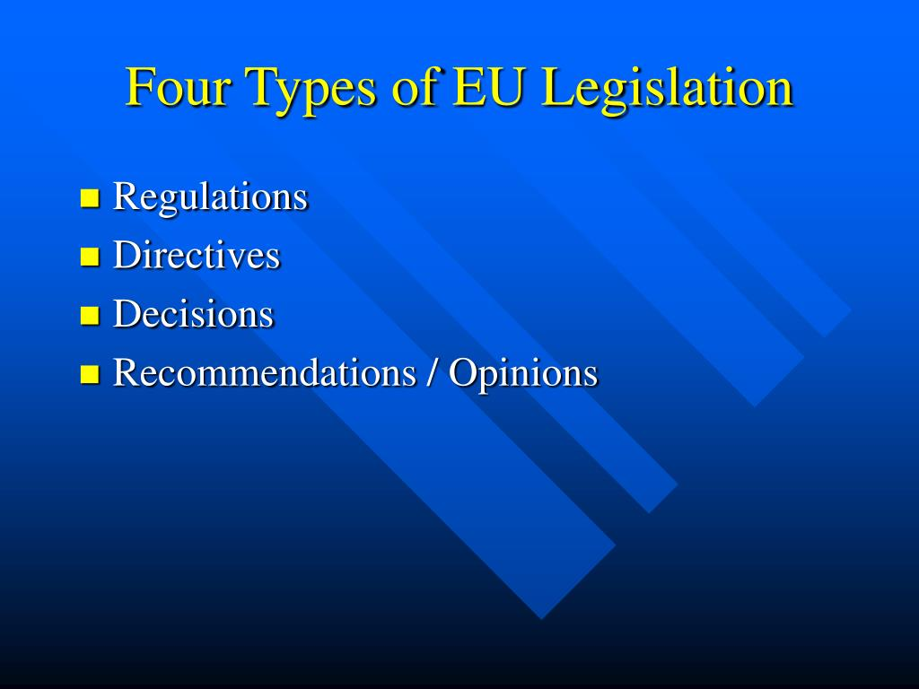 Four Types of EU Legislation