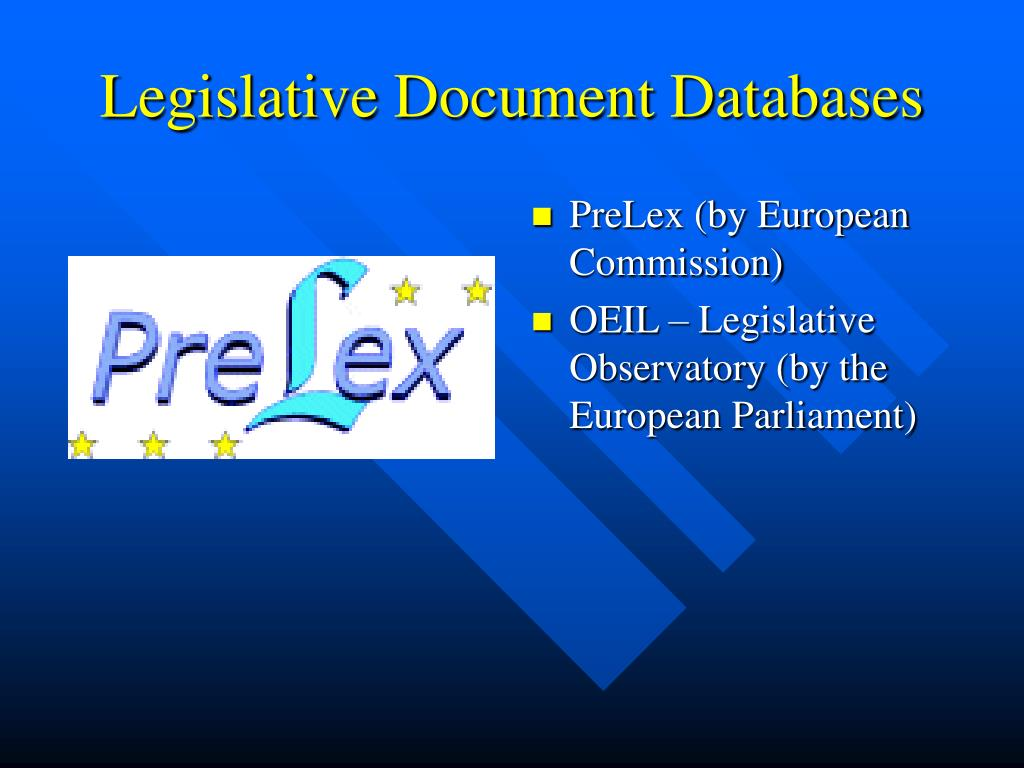 Legislative Document Databases