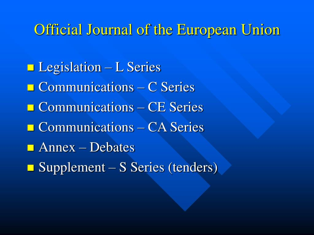 Official Journal of the European Union