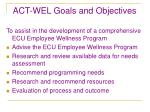 act wel goals and objectives5