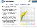 ott parsivel type of precipitation rain