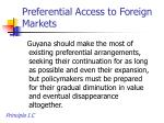preferential access to foreign markets