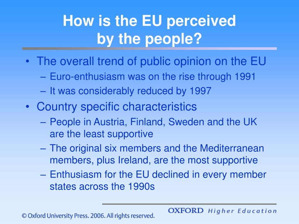 How is the EU perceived
