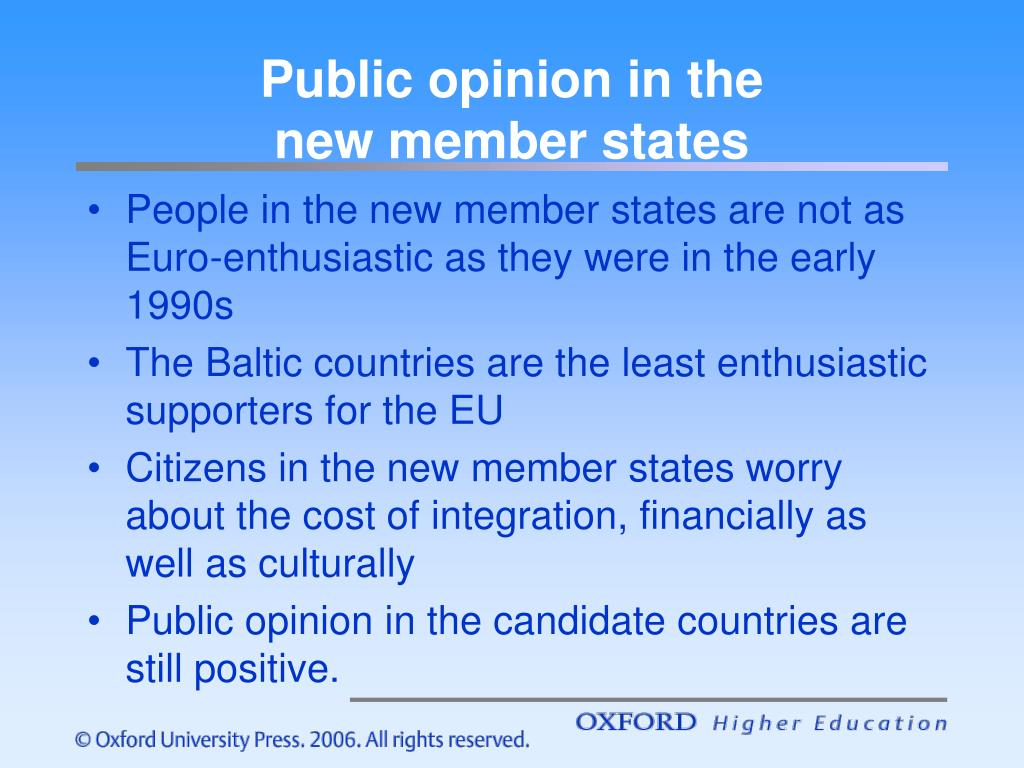 Public opinion in the